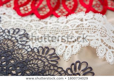 branco · forma · flor · tecido · preto - foto stock © ruslanomega