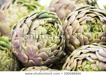 Globe artichokes at the market Stock photo © aladin66