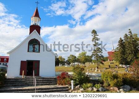 Old church of Tadoussac Stock photo © aladin66