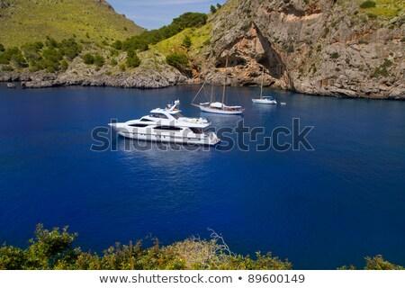 Сток-фото: пляж · север · Майорка · лодка · пейзаж · морем