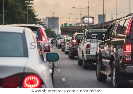 Hora do rush carro estrada cidade rua multidão Foto stock © HerrBullermann