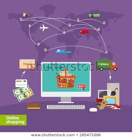 e-mail · icon · pijl · vector · eps10 · internet - stockfoto © davidarts