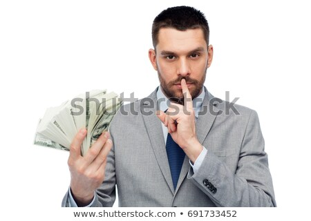 business man hushing stock photo © leeser