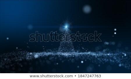 roze · vakantie · boom · glas · sneeuw - stockfoto © marekusz