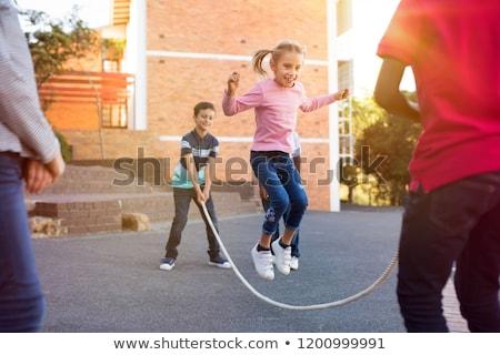girl skipping stock photo © blamb