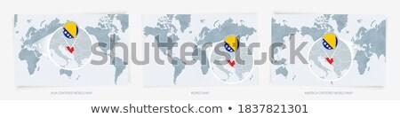 Bosnië-Herzegovina reizen kaart business ontwerp Stockfoto © speedfighter