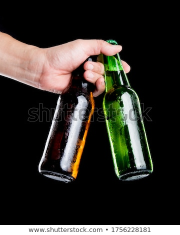 Dois vidro garrafas pequeno vazio Foto stock © simply
