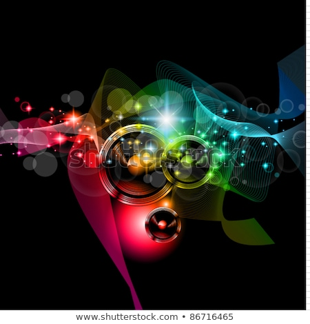 abstract colurful musical silhouette stock photo © pathakdesigner