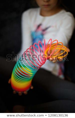 Foto stock: Primavera · brinquedo · isolado · branco · sombra · fundo