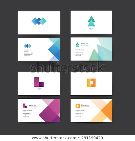 abstract blue based business card  Stock photo © pathakdesigner