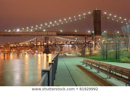 парка моста Нью-Йорк небе служба здании Сток-фото © frank11
