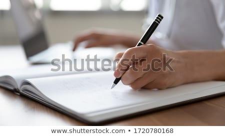 Practicante informe pelo salud comunicación profesional Foto stock © photography33