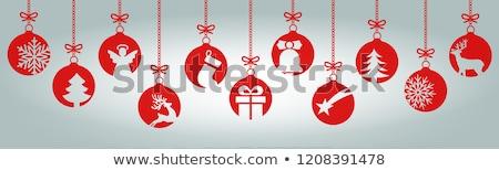 красивой Рождества украшения подвесной рождественская елка дерево Сток-фото © haiderazim
