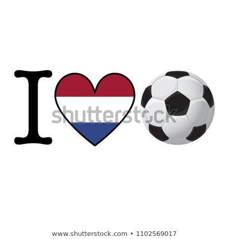Bandera Países Bajos Holanda forma de corazón mar Europa Foto stock © experimental