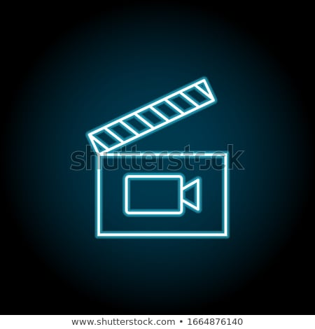 clapboard with blue screen media player concept stock photo © tashatuvango