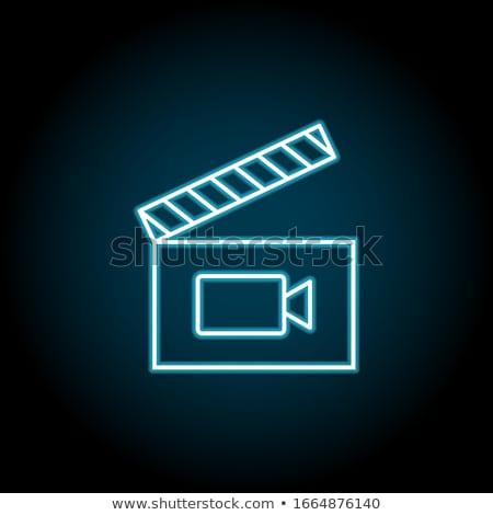 Clapboard with Blue Screen. Media Player Concept. Stock photo © tashatuvango