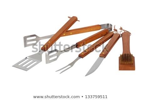 barbekü · bıçak · ayarlamak · mutfak · araçları · beyaz - stok fotoğraf © photography33