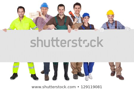Workman holding sign Stock photo © photography33