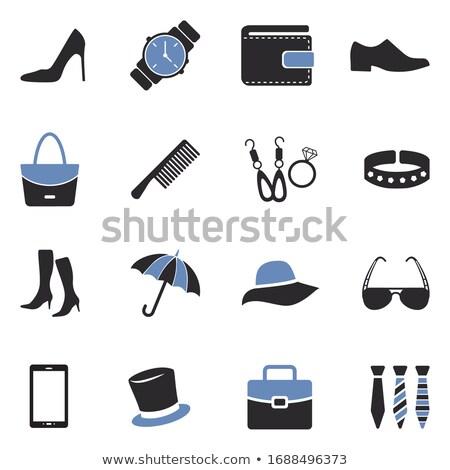 ストックフォト: ファッション · 白 · 女性 · 青