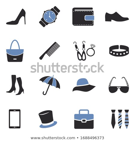 моде белый женщину синий Сток-фото © Filata