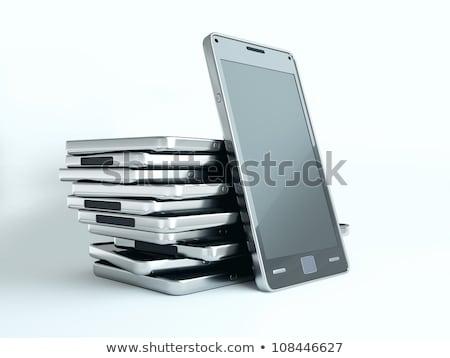 スマート · 電話 · アプリ · グローバル通信 · ネットワーク · 多くの - ストックフォト © arsgera