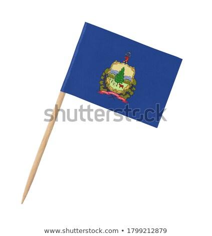 minyatür · bayrak · yalıtılmış · Vermont · toplantı - stok fotoğraf © bosphorus