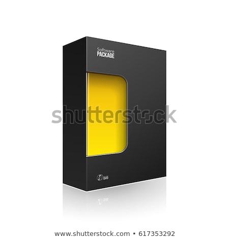 Termék szoftver doboz narancs fehér sötét Stock fotó © Quka