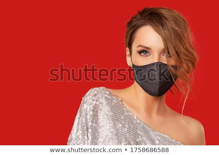 Kobieta elegancki makijaż zdjęcie piękna kobieta odizolowany Zdjęcia stock © Anna_Om