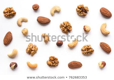 nueces · aislado · comer · blanco · tuerca · crecimiento - foto stock © shutswis