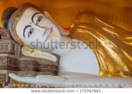 Buda estatua Myanmar viaje oro Asia Foto stock © travelphotography
