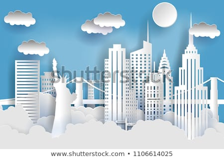 Нью-Йорк · 3D · набор · иконки · карта - Сток-фото © cteconsulting