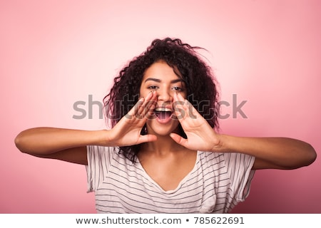 Woman hollering Stock photo © photography33