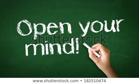 Open geest krijt illustratie persoon tekening Stockfoto © kbuntu