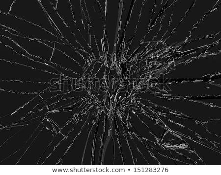 Shattered glass: broken heart shape Stock photo © Arsgera
