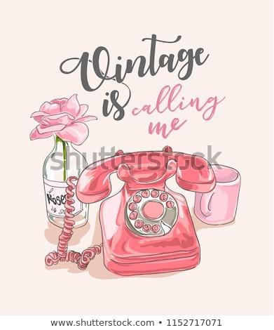 hotline · lettres · téléphone · service · clients · ligne · main - photo stock © arenacreative