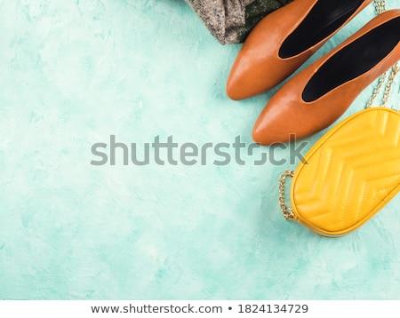 yellow handbag and pumps stock photo © fisher