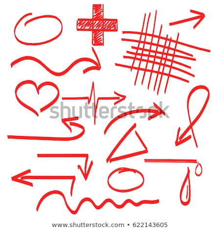 Icon of Heart with Cardiogram Line on Red Arrow. Stock photo © tashatuvango