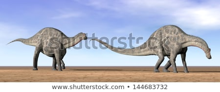 two dicraeosaurus dinosaur Stock photo © mariephoto