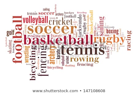 wrestling word cloud with brown wordings stock photo © seiksoon
