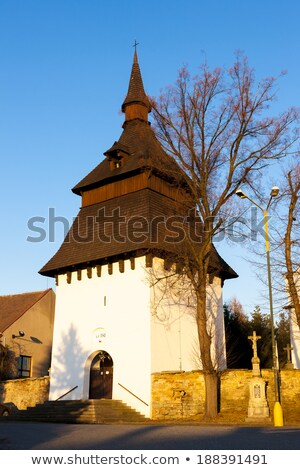 church and bell tower in Bily Ujezd, Czech Republic Stock photo © phbcz