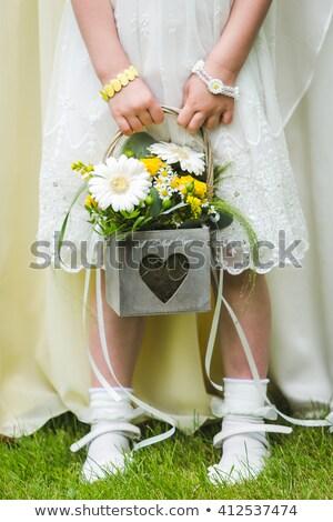 Flores preparado boda brillante rosa flor Foto stock © ifeelstock