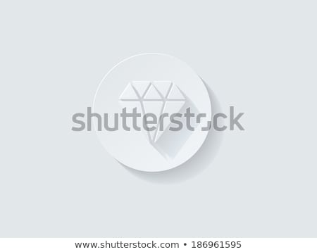 Floating Diamond Icon with Long Shadow Stock photo © graphit