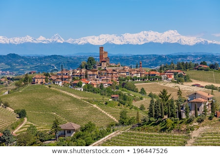 Small town on the hill in Piedmont, Italy. Stock photo © rglinsky77