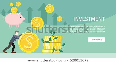 Haszon terv hosszú árnyékok pénzügy árnyék Stock fotó © tashatuvango