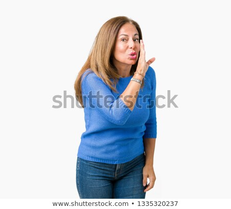 Senior woman whispering Stock photo © bmonteny