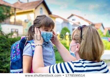 médico · máscara · jovem · feminino - foto stock © hasloo