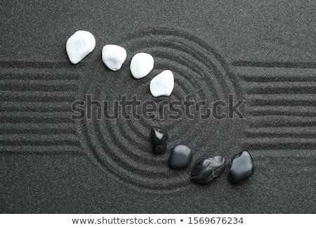 balanced black zen stones stock photo © nito