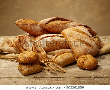 Taze ekmek sandviç beyaz yemek kahverengi Stok fotoğraf © neillangan