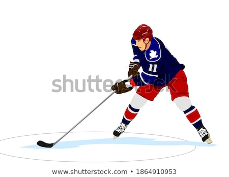 Ice hockey player. Colored Vector illustration for designers Stock photo © leonido