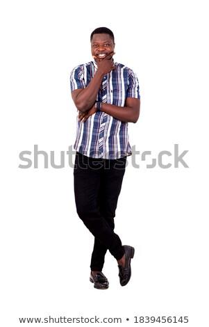 человека улыбаясь стороны подбородок модный Сток-фото © feedough